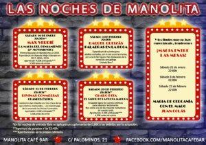 Manolita Café Bar Las noches de Manolita Salamanca Enero febrero 2020