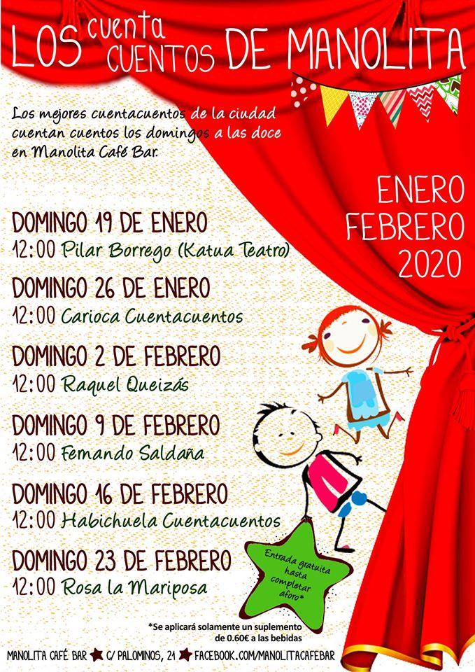 Manolita Café Bar Los cuentacuentos de Manolita Salamanca Enero febrero 2020