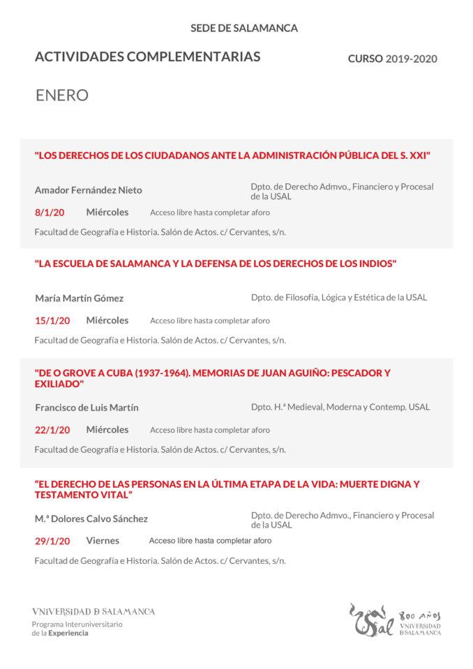 Programa Interuniversitario de la Experiencia Enero 2020