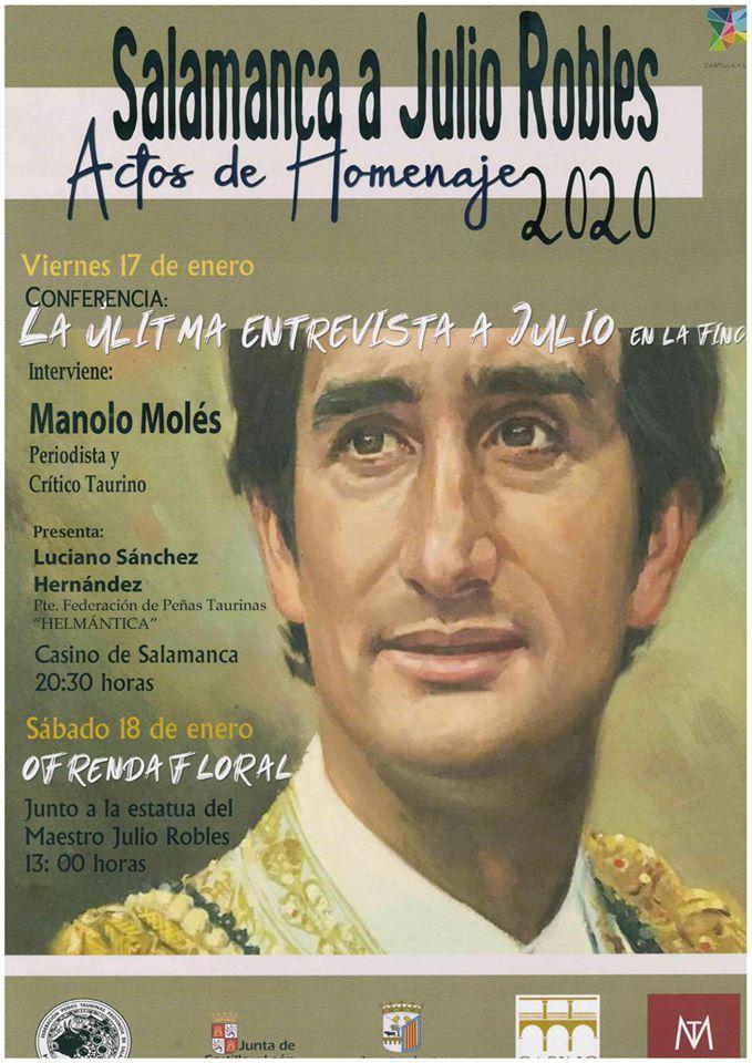 Salamanca a Julio Robles Actos de homenaje 2020 Enero
