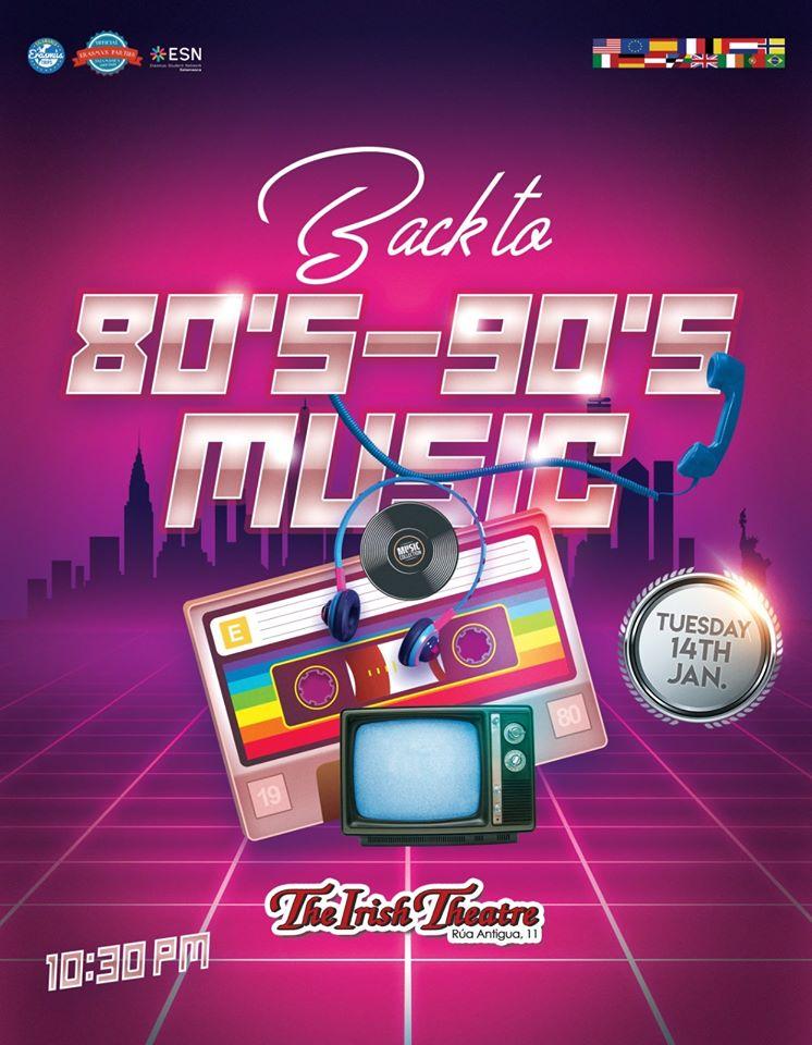 The Irish Theatre Back to 80's & 90's Party Salamanca Enero 2020