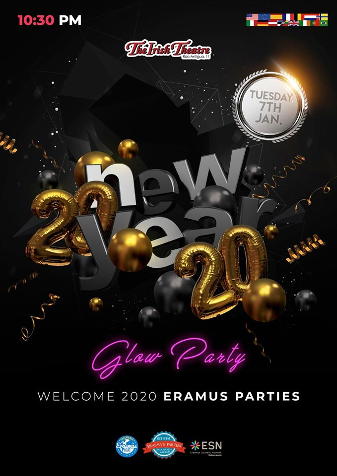 The Irish Theatre Welcome 2020 Erasmus Parties Salamanca Enero 2020