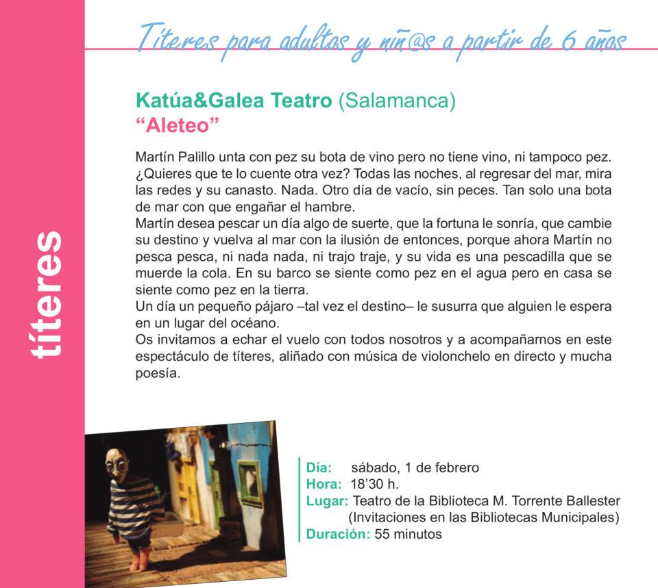 Torrente Ballester Katúa & Galea Teatro Salamanca Enero 2020