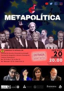 Aula Teatro Juan del Enzina Metapolítica Salamanca Febrero 2020