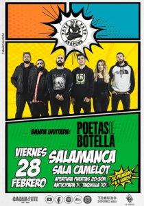 Camelot Paté de Pato + Poetas de Botella Salamanca Febrero 2020