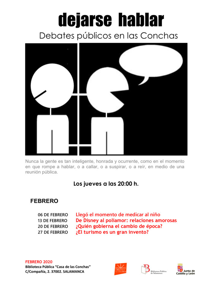 Casa de las Conchas Dejarse hablar Debates públicos en las Conchas Salamanca Febrero 2020