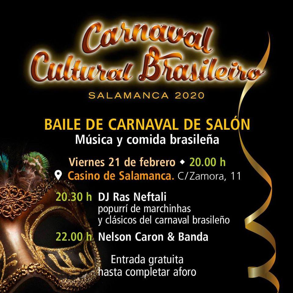 Casino de Salamanca Carnaval Cultural Brasileiro Febrero 2020