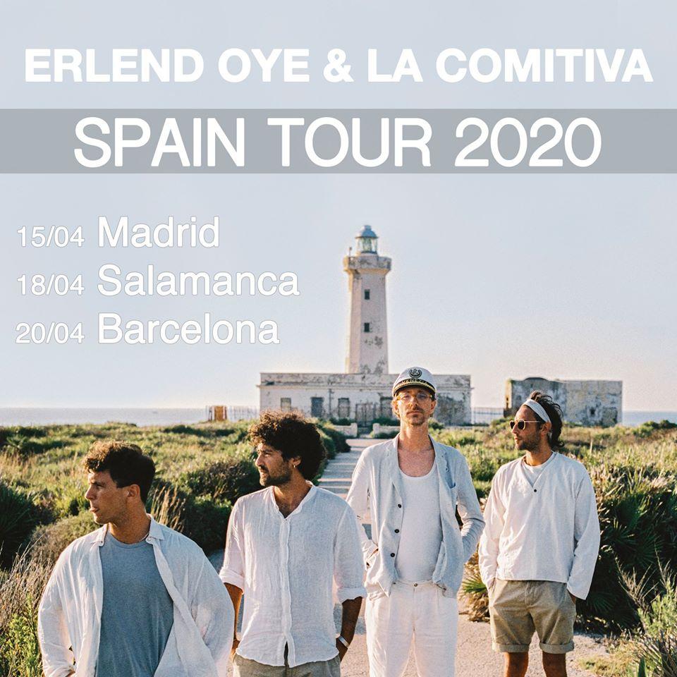 Centro de las Artes Escénicas y de la Música CAEM Erlend Oye & La Comitiva Conciertos Sala B Salamanca Abril 2020