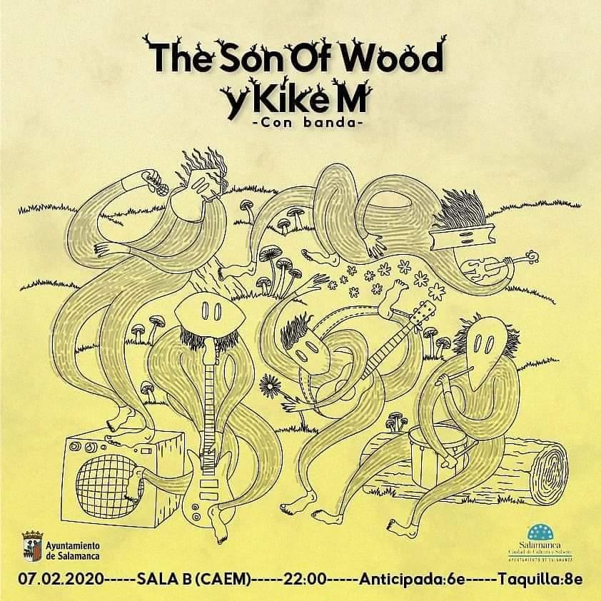 Centro de las Artes Escénicas y de la Música CAEM The Son of Wood y Kike M Conciertos Sala B Salamanca Febrero 2020