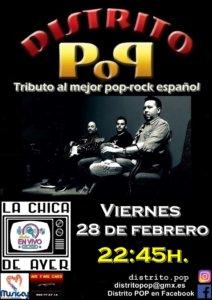La Chica de Ayer Distrito Pop Salamanca Febrero 2020