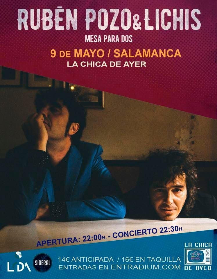 La Chica de Ayer Rubén Pozo & Lichis Salamanca Mayo 2020