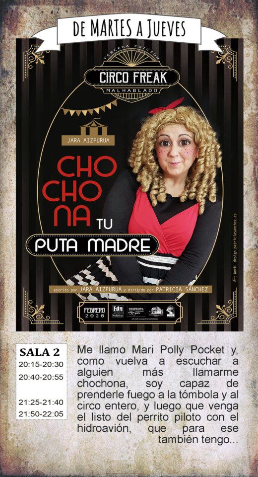La Malhablada Chochona tu puta madre Salamanca Febrero 2020