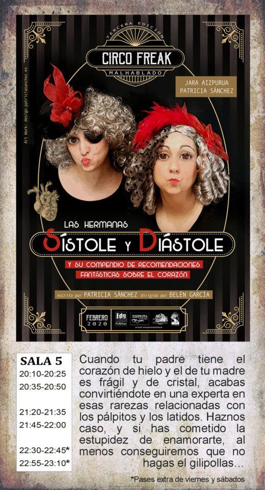 La Malhablada Las hermanas Sístole y Diástole Salamanca Febrero 2020