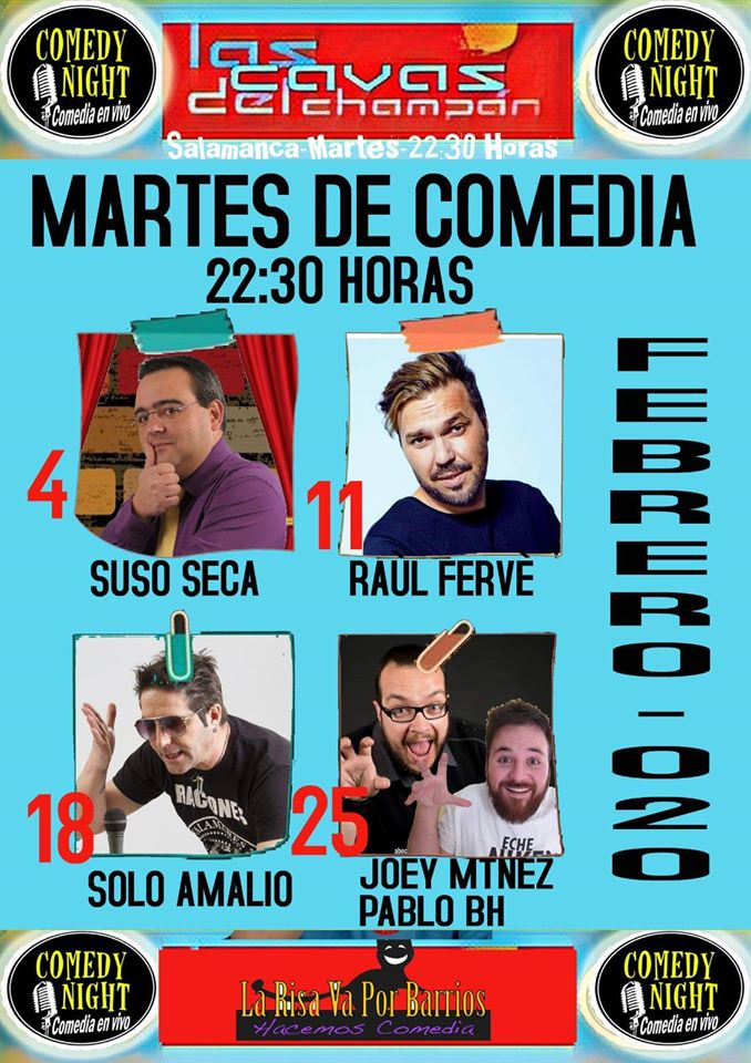 Las Cavas del Champán Comedy Night Salamanca Febrero 2020