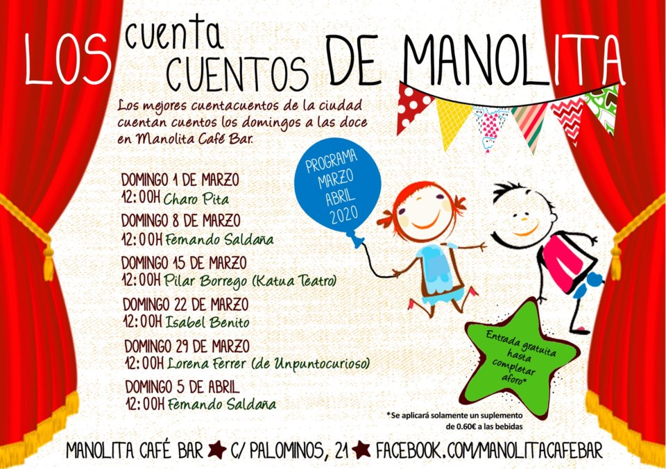 Manolita Café Bar Los cuentacuentos de Manolita Salamanca Marzo abril 2020