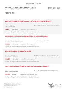 Programa Interuniversitario de la Experiencia Febrero 2020