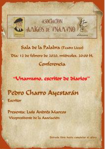 Teatro Liceo Unamuno, escritor de diarios Salamanca Febrero 2020