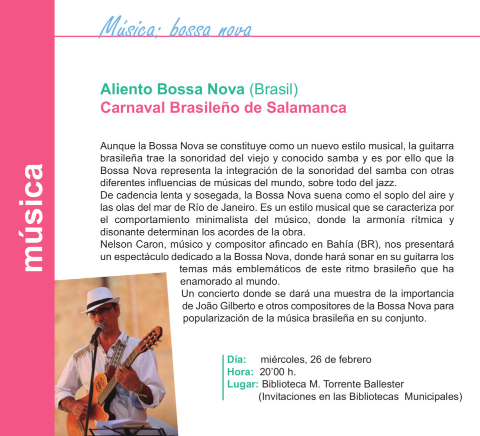 Torrente Ballester Aliento Bossa Nova Salamanca Febrero 2020
