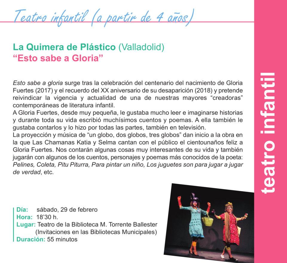 Torrente Ballester La Quimera de Plástico Salamanca Febrero 2020