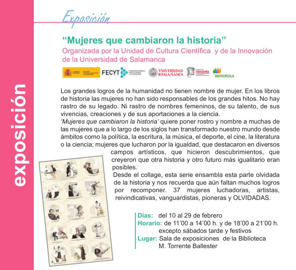 Torrente Ballester Mujeres que cambiaron la historia Salamanca Febrero 2020