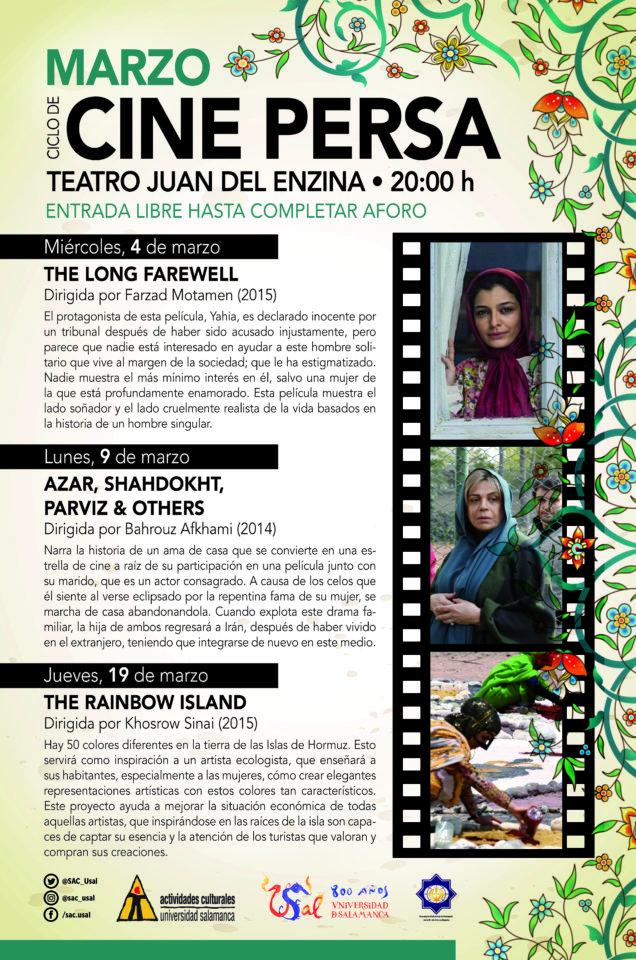 Aula Teatro Juan del Enzina Ciclo de Cine Persa Salamanca Marzo 2020