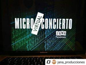 Jana Micro Concierto Virtual Salamanca Marzo 2020