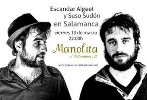 Manolita Café Bar Escandar Algeet y Suso Sudón Salamanca Marzo 2020