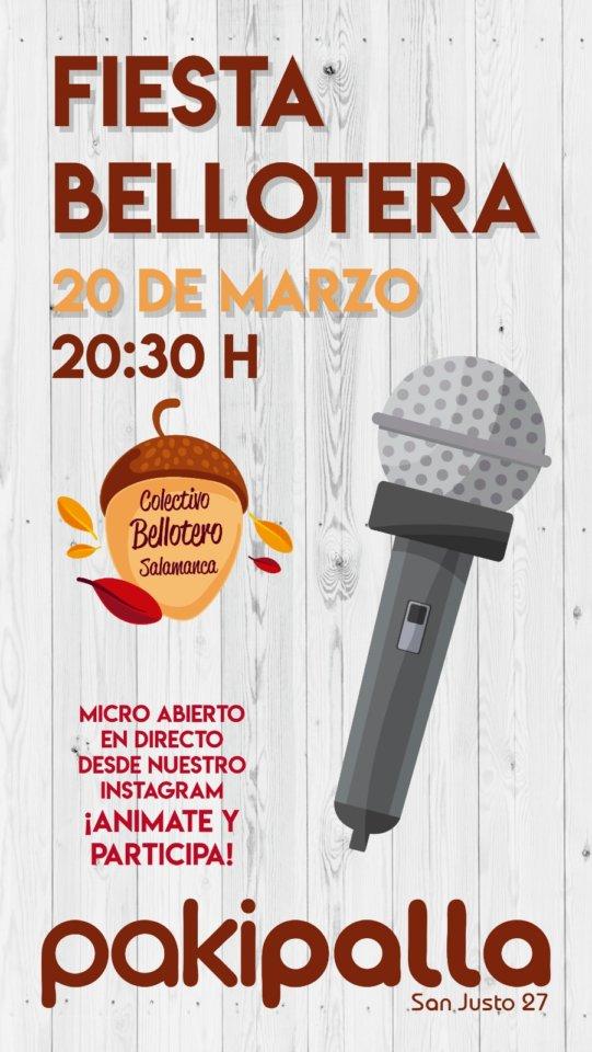 Pakipalla Fiesta Bellotera 20 de marzo de 2020 Salamanca y el resto del mundo