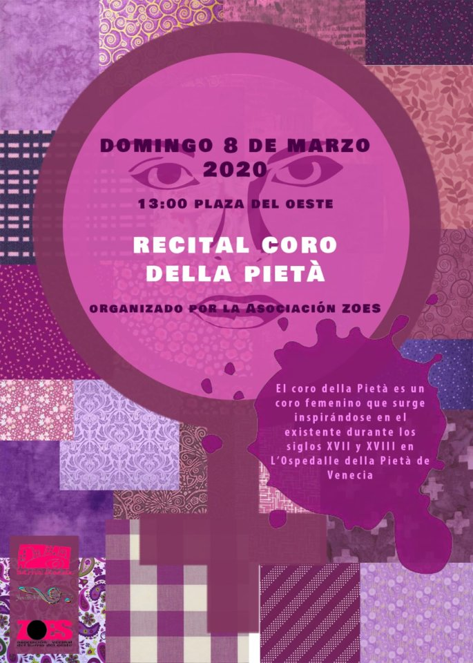Plaza del Oeste Coro Della Pietà Día Internacional de la Mujer Salamanca Marzo 2020