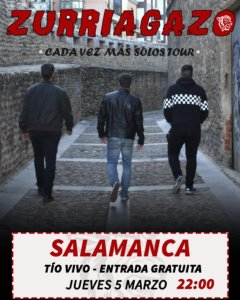 Tío Vivo Zurriagazo Punk Salamanca Marzo 2020