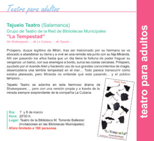 Torrente Ballester Tejuelo Teatro Salamanca Marzo 2020