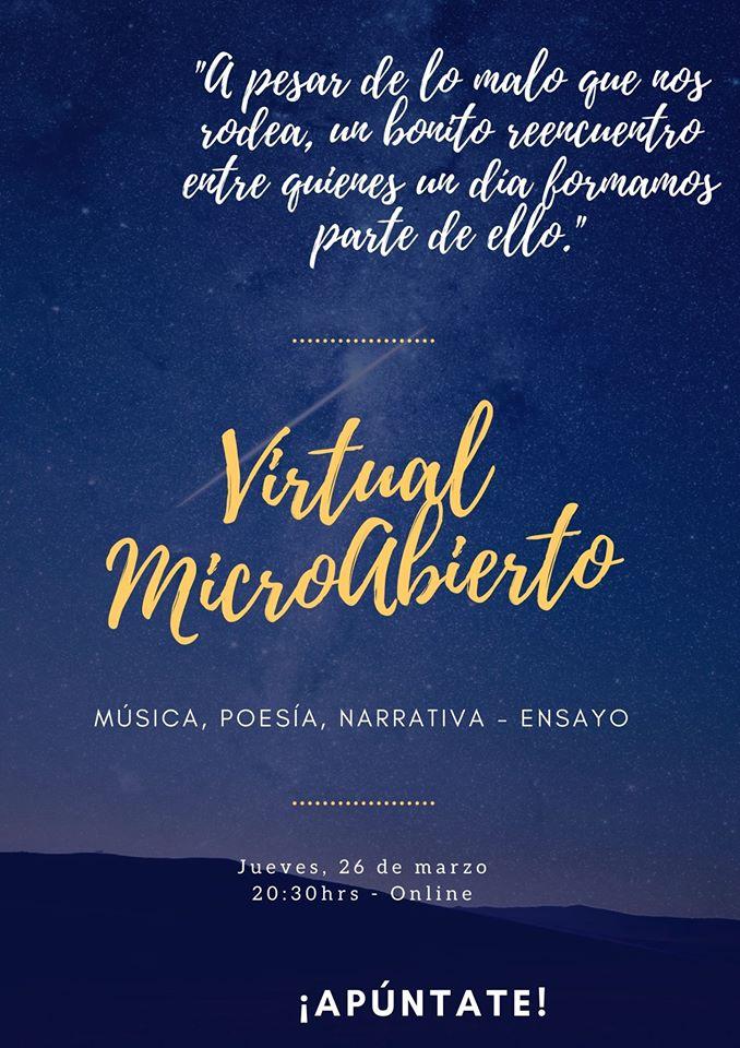 Virtual Micro Abierto 26 de marzo de 2020 Salamanca y resto del mundo