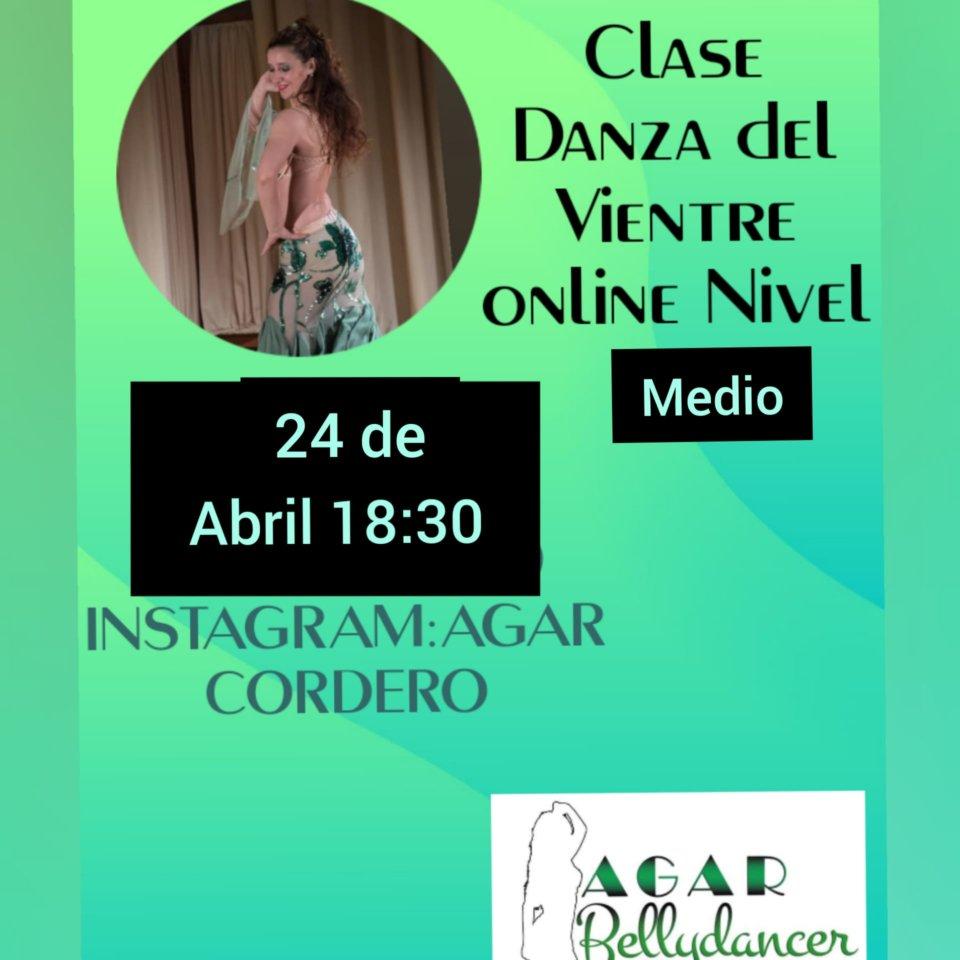 Agar Bellydancer Clase de Danza del Vientre 24 de abril de 2020 Salamanca y resto del mundo