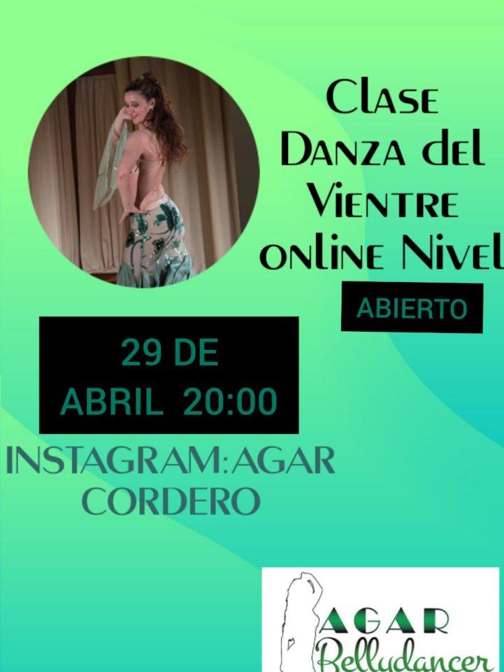 Agar Bellydancer Clase de Danza del Vientre 29 de abril de 2020 Salamanca y resto del mundo
