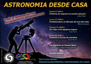 Astronomía desde casa Salamanca y resto del mundo Abril 2020