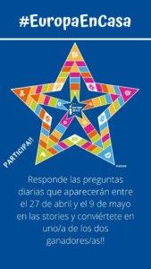 Concurso #EuropaEnCasa Centro de Información Europe Direct Salamanca Abril mayo 2020
