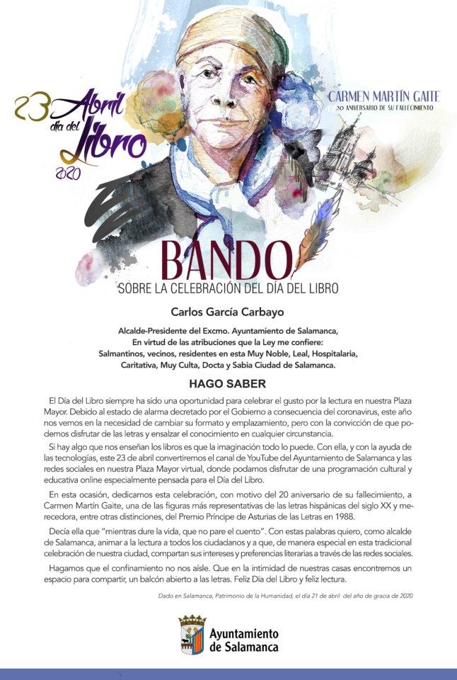 Día Internacional del Libro Salamanca y resto del mundo Abril 2020