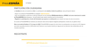 El Ayuntamiento de Salamanca se suma al festival fotográfico #PHEdesdemibalcón organizado por PHotoESPAÑA
