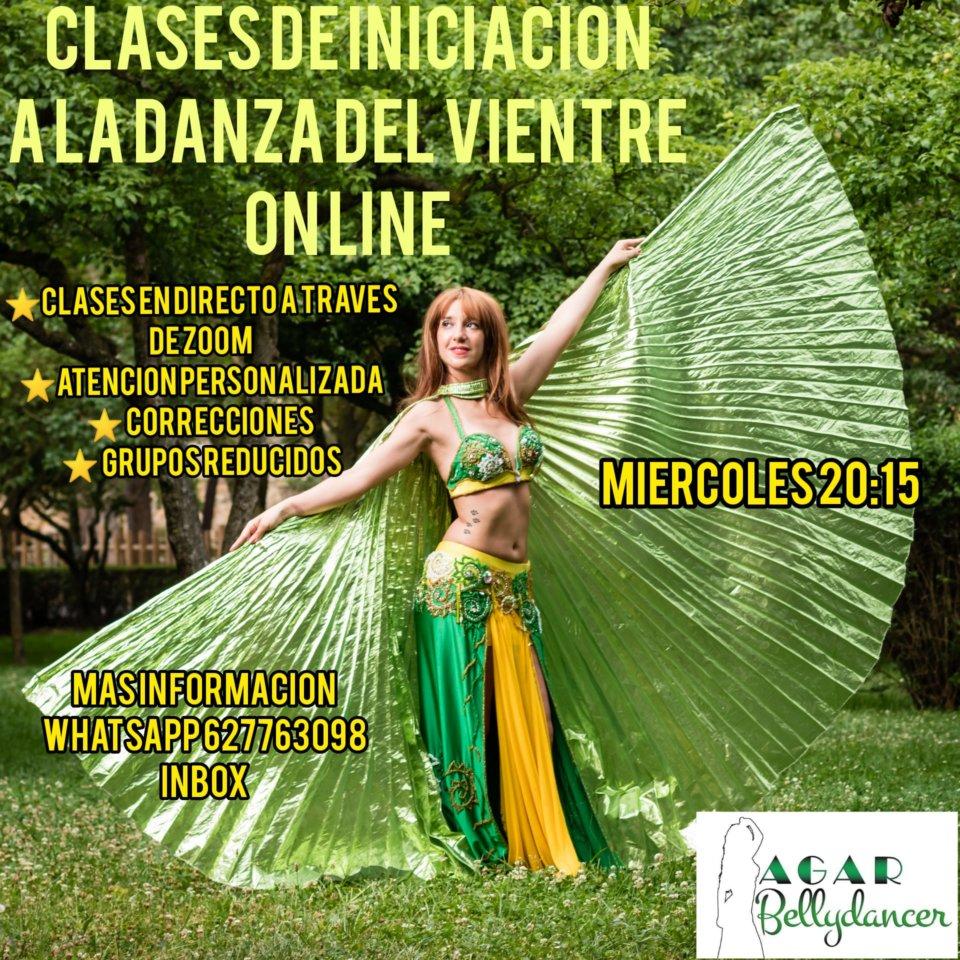 Agar Bellydancer Clases de Iniciación a la Danza del Vientre Salamanca y resto del mundo 2020