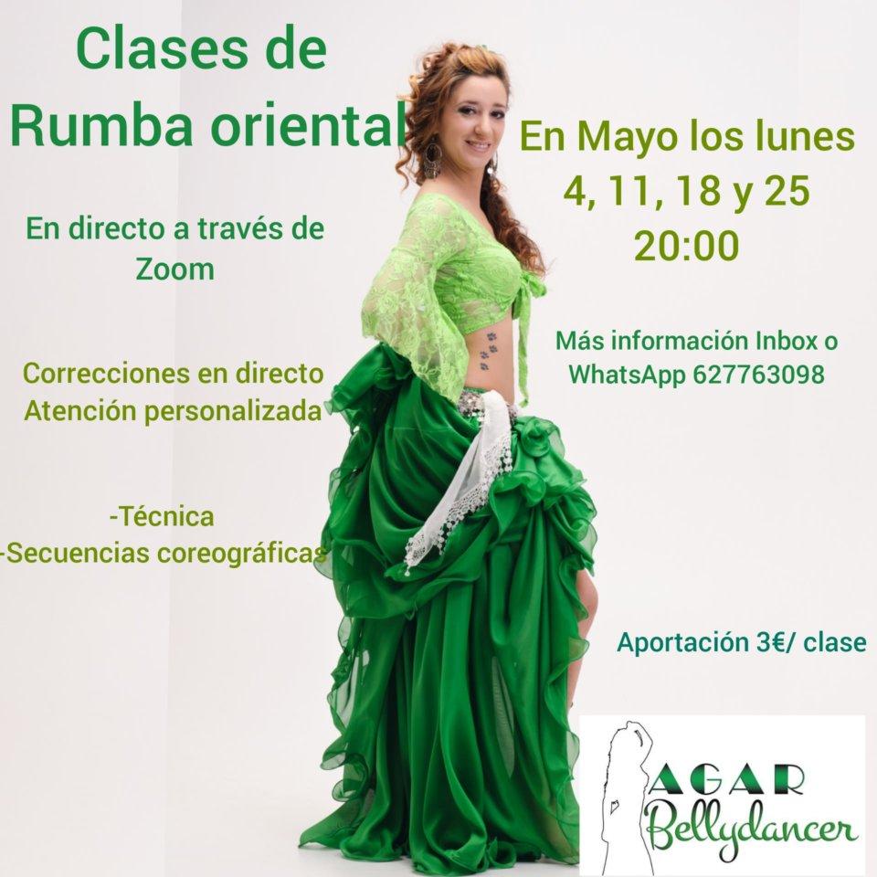 Agar Bellydancer Clases de Rumba Oriental Salamanca y resto del mundo Mayo 2020