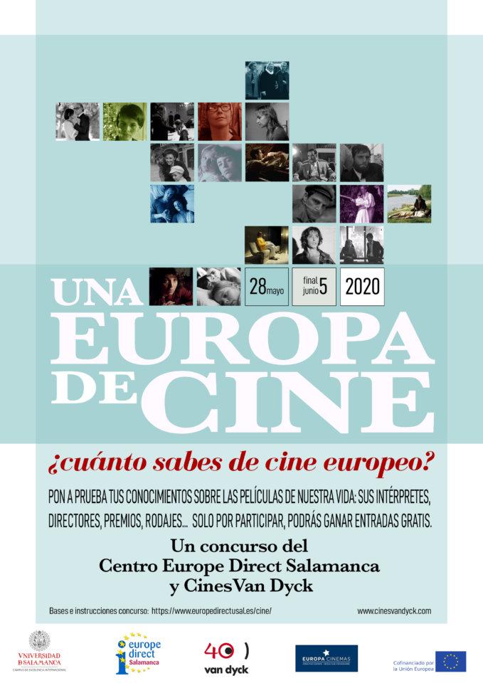 Concurso Una Europa de cine Centro de Información Europe Direct Salamanca Mayo 2020