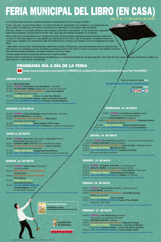 Salamanca I Feria Municipal del Libro en Casa Mayo 2020