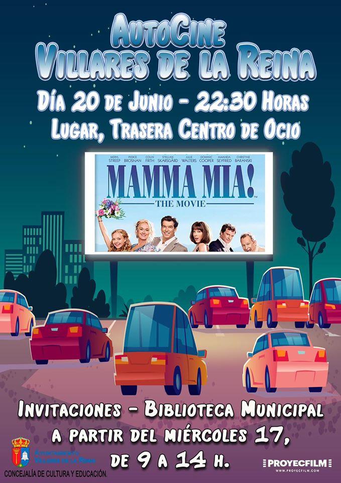 Autocine Villares de la Reina Mamma mía! Junio 2020