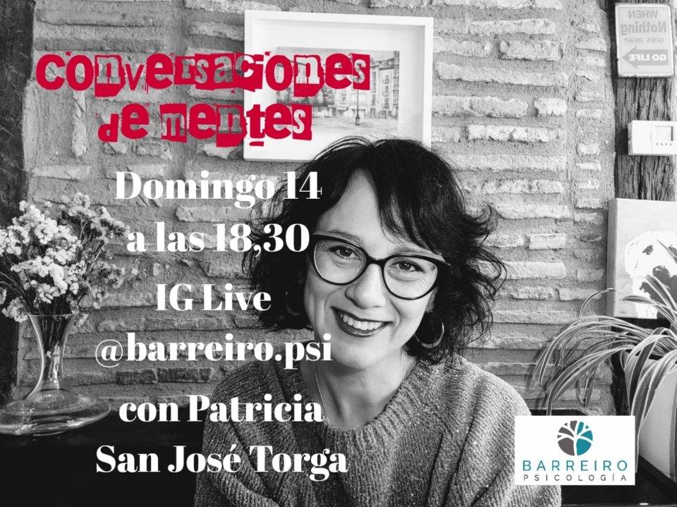 Barreiro Psicología Conversaciones de mentes Patricia San José Torga Salamanca y resto del mundo 14 de junio de 2020