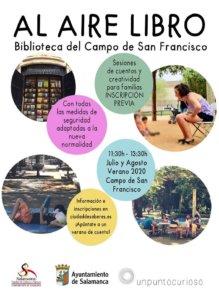 Campo de San Francisco Al aire libro Salamanca Julio agosto 2020