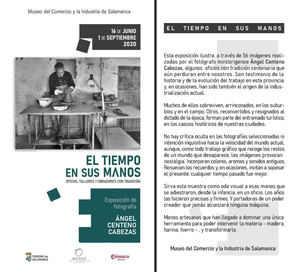 Museo del Comercio y de la Industria El tiempo en sus manos Salamanca 2020