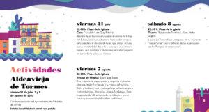 Aldeavieja de Tormes Noches de Cultura Julio agosto 2020