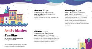 Canillas de Abajo Noches de Cultura Julio agosto 2020