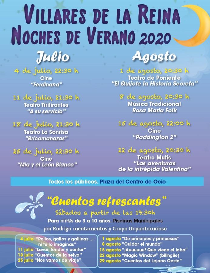 Noches de Verano 2020 Villares de la Reina