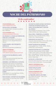 Programa Salamanca La Noche del Patrimonio Septiembre 2020